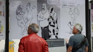 Inaugura el Metro muestra de caricatura sobre la equidad de género