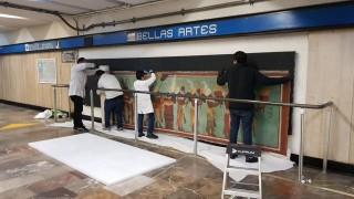 """Regresa a la estación Bellas Artes """"El Mural Bonampak"""""""