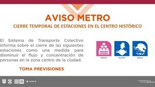 Tarjeta Informativa Cierre de Zócalo, Allende y Merced